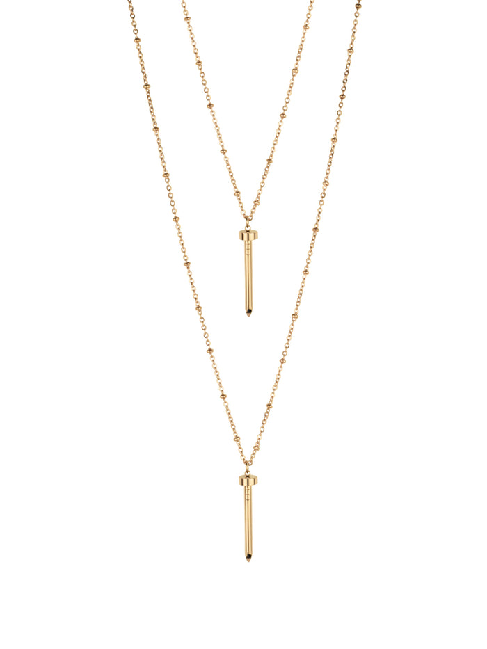 Pema Layered Necklace in Rose Gold
