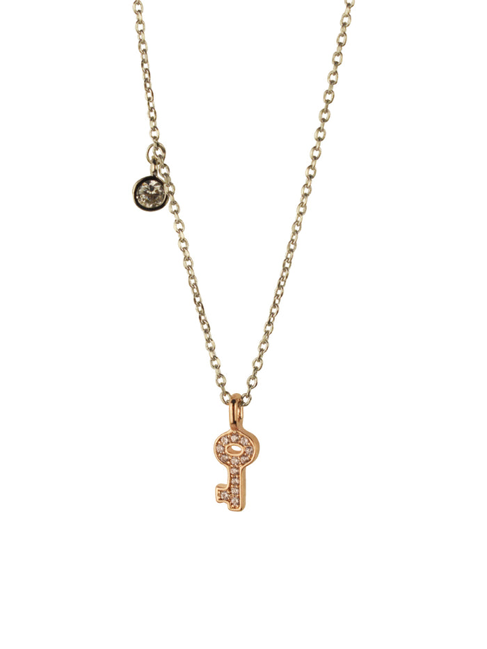 Key Charm Necklace