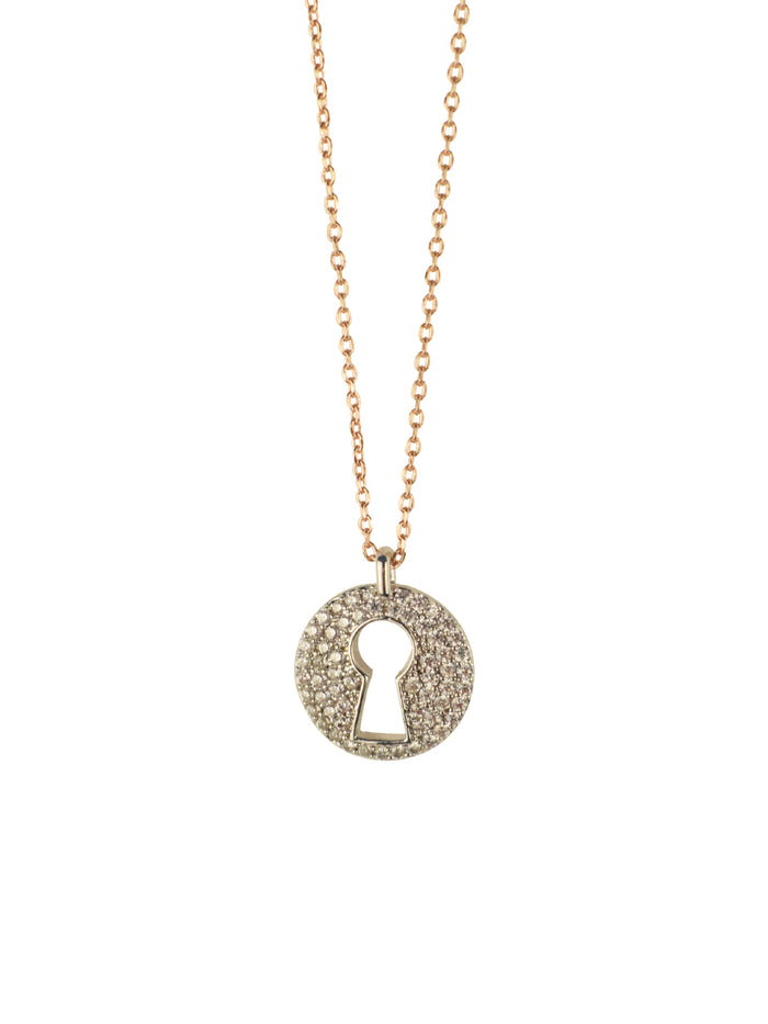 Key Hole Charm Necklace