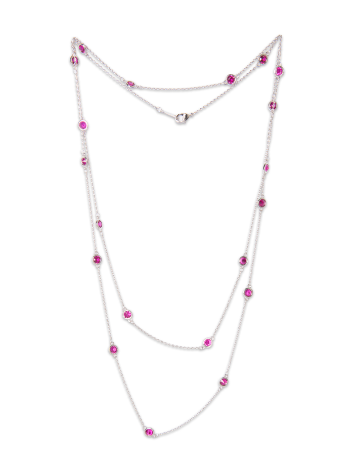 Cherie Confetti Necklace in Silver
