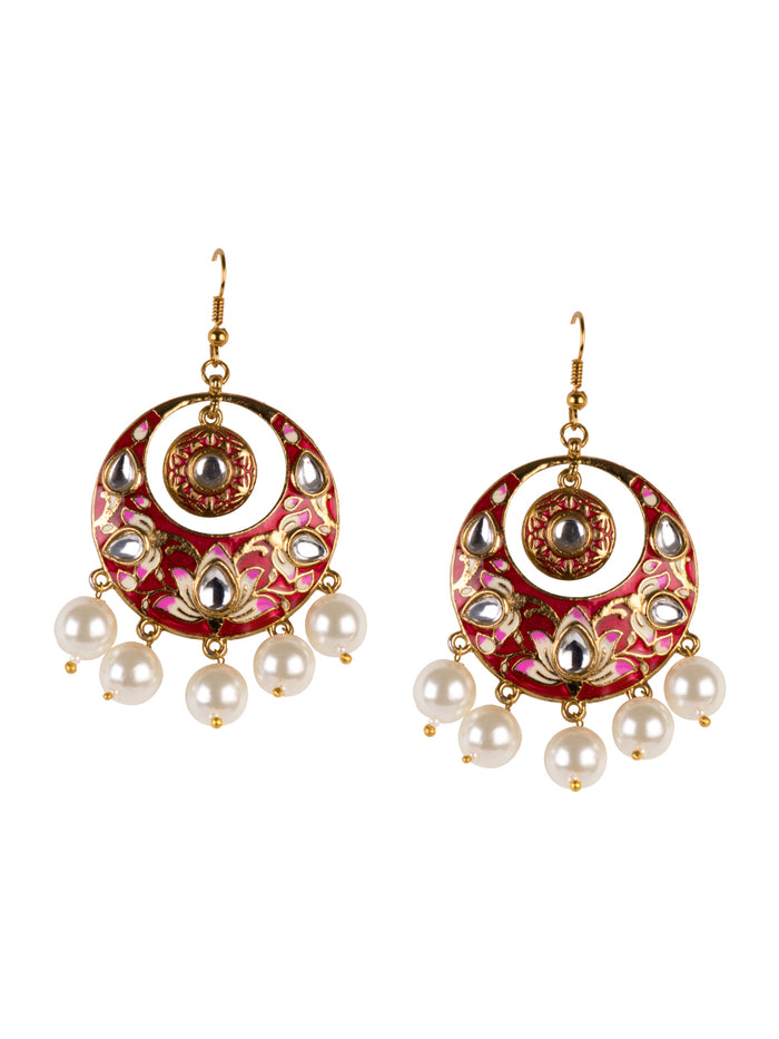Aara Chand balas in ruby red