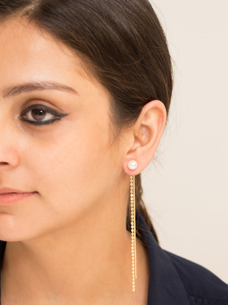 Slink Drop Earrings in Gold