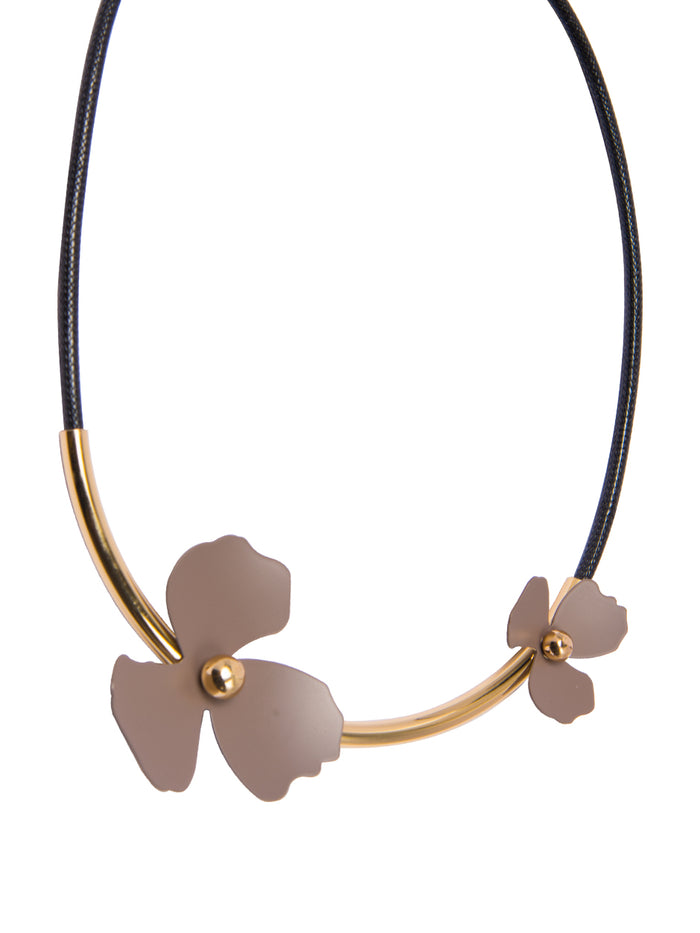 Wild Flower statement necklace in Cinder