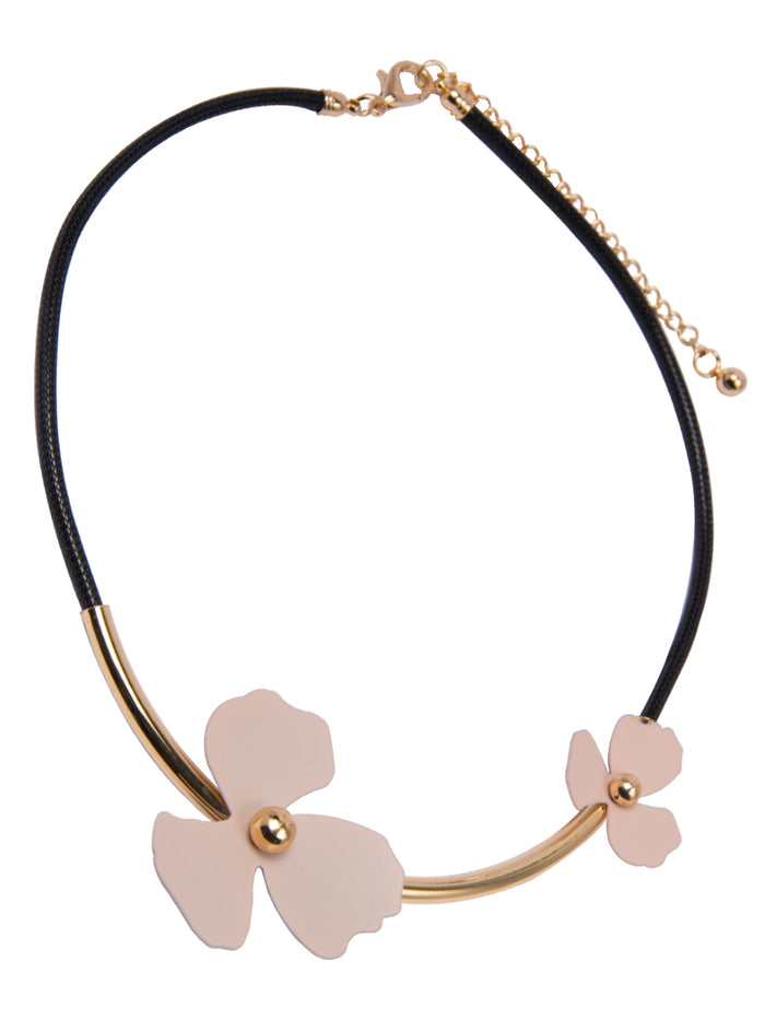 Wild Flower statement necklace in Blush