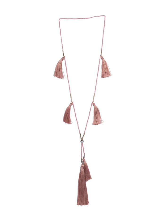 Kira tassel necklace in Quartz