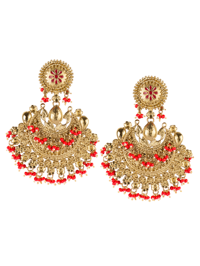 Ameera Antique Gold Earrings