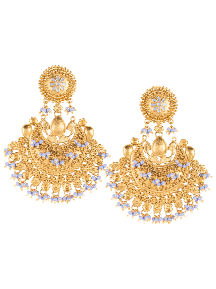 Ambreen Antique Gold Earrings