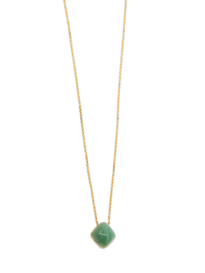 Siren Jade Pendant Necklace in Gold