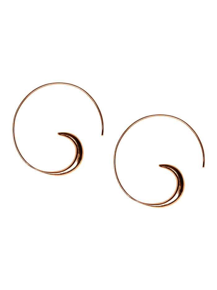 Labyrinth hoops in Rose Gold
