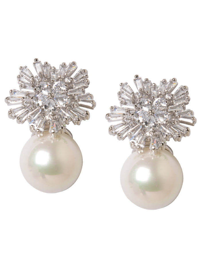 Fiore Pearl and Crystal Earrings