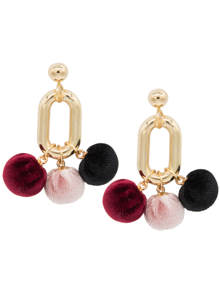 Martini pom pom Earrings