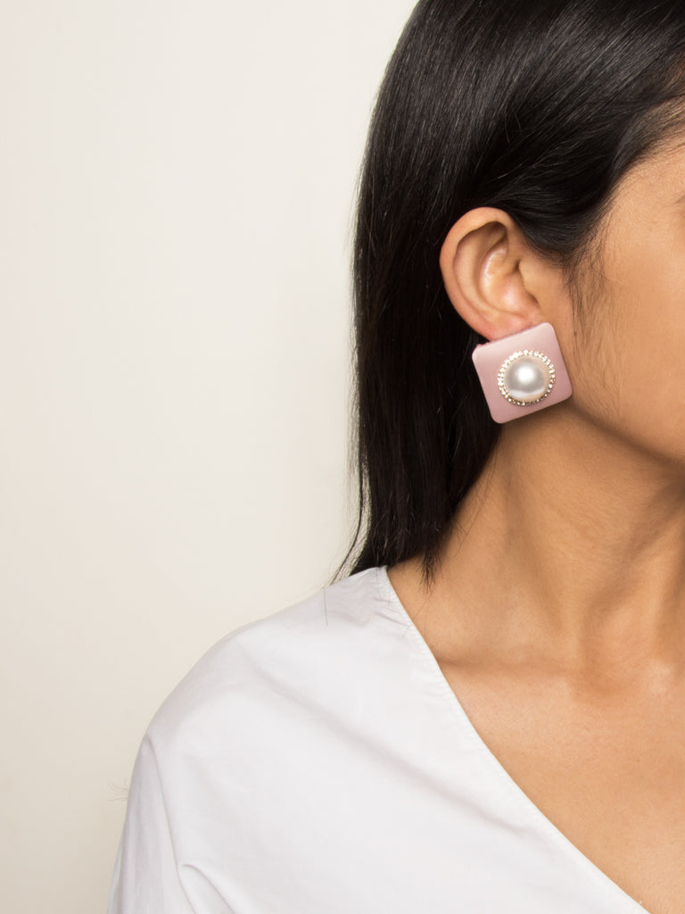 Gabriela Stud Earrings in Blush