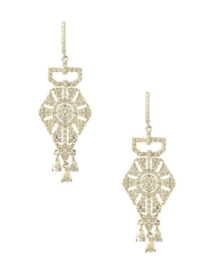 Fitz Crystal Drop Earrings