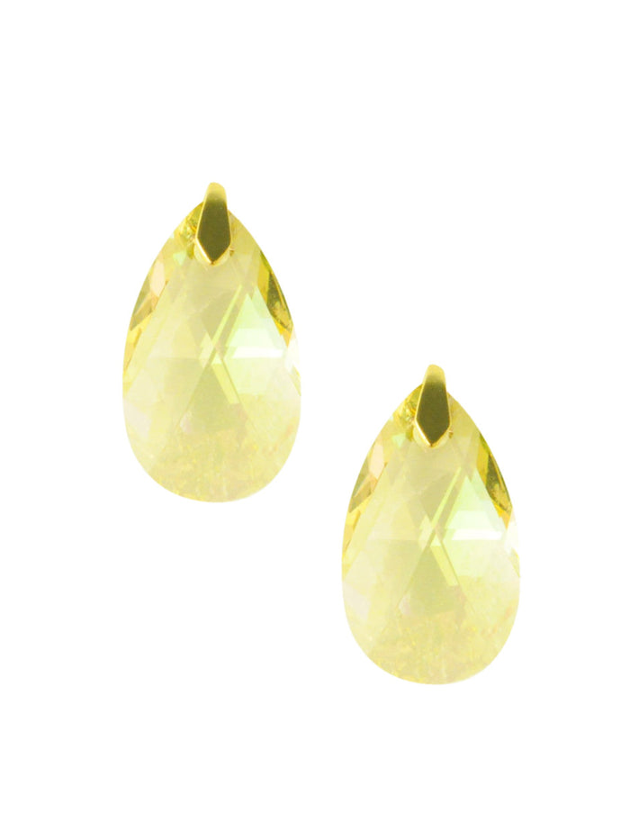 Citrine Swarovski Crystal Stud Earrings