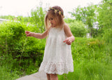 Lace flower girl dress Ivory lace flower girl dres Toddler flower girl dress
