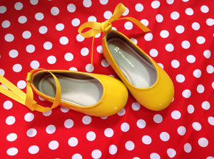 Yellow girl shoes Flat shoes Girl shoe
