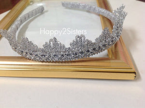 Tiara Crown Headband Lace crown Girls Headband Flower girl gift