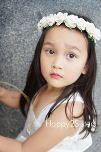 Girls Floral Headband Flower girl headband Ivory flower headband