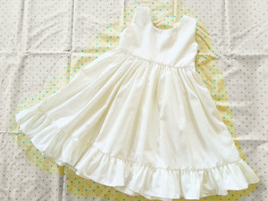 Cotton flower girl dress Vintage flower girl dress Rustic flower girl dress Girl summer dress