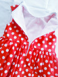 Girls dress, Minnie mouse birthday outfit ,Hot Pink girl dress
