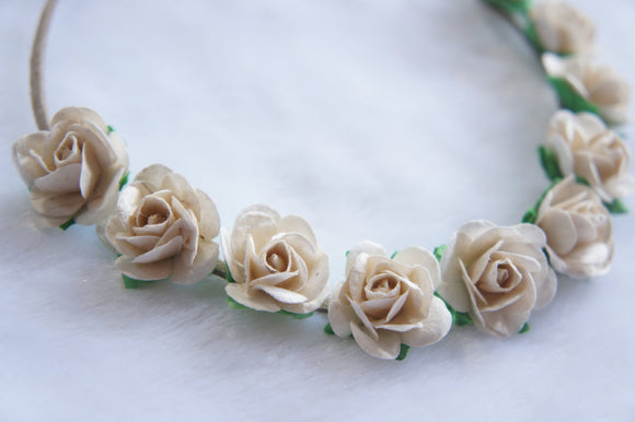 Flowers crown headband