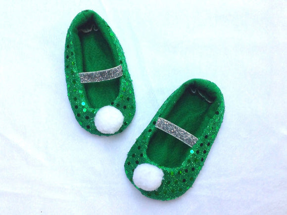 Fabric baby Shoes, Tinkerbell baby inspired shoes