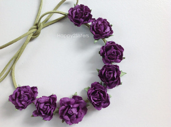 Flower crown Bridal Floral Crown Flower girl hair accessories Flower girl headband