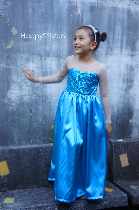 Elsa girls dress Frozen costume Girl elsa princess costume Frozen costume for girl Halloween costume for kids