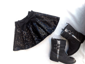 Black sequin skirt Girl skirt
