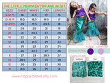 Girl Mermaid costume Little mermaid costume Ariel costume Girl halloween costume Mermaid tail skirt