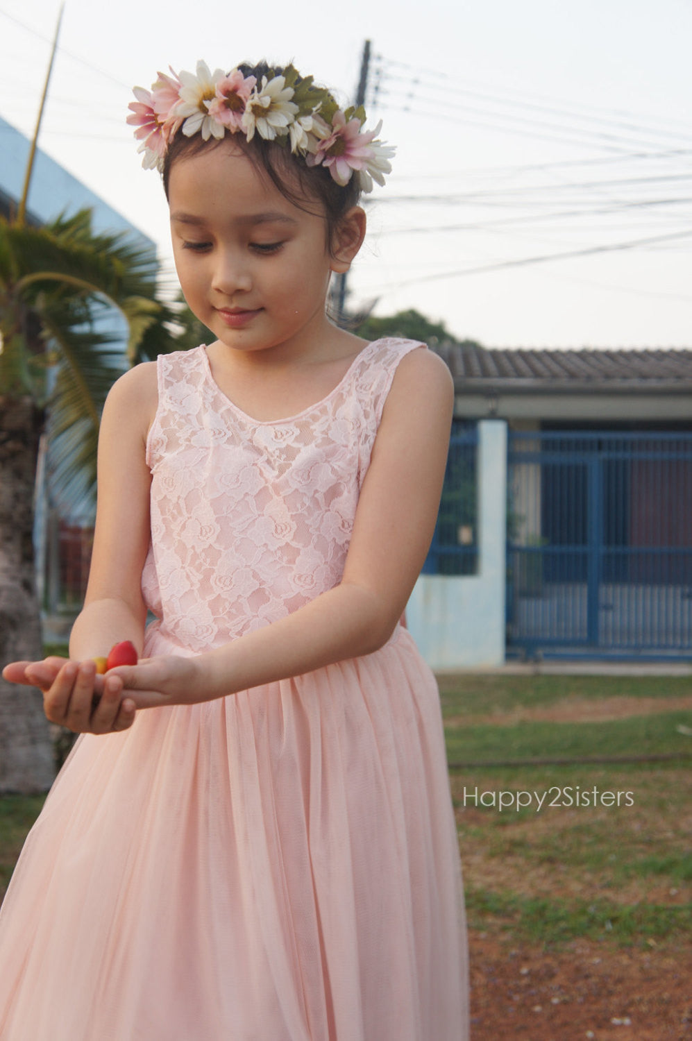 786cde2ff4700 ... Blush lace and tulle flower girl dresses Flower girl dress tulle Rustic  flower girl dress Blush ...