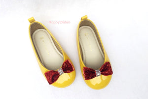 Minnie mouse shoes, Toddlers girl shoes, Yellow girl shoes, Mustard yellow shoes