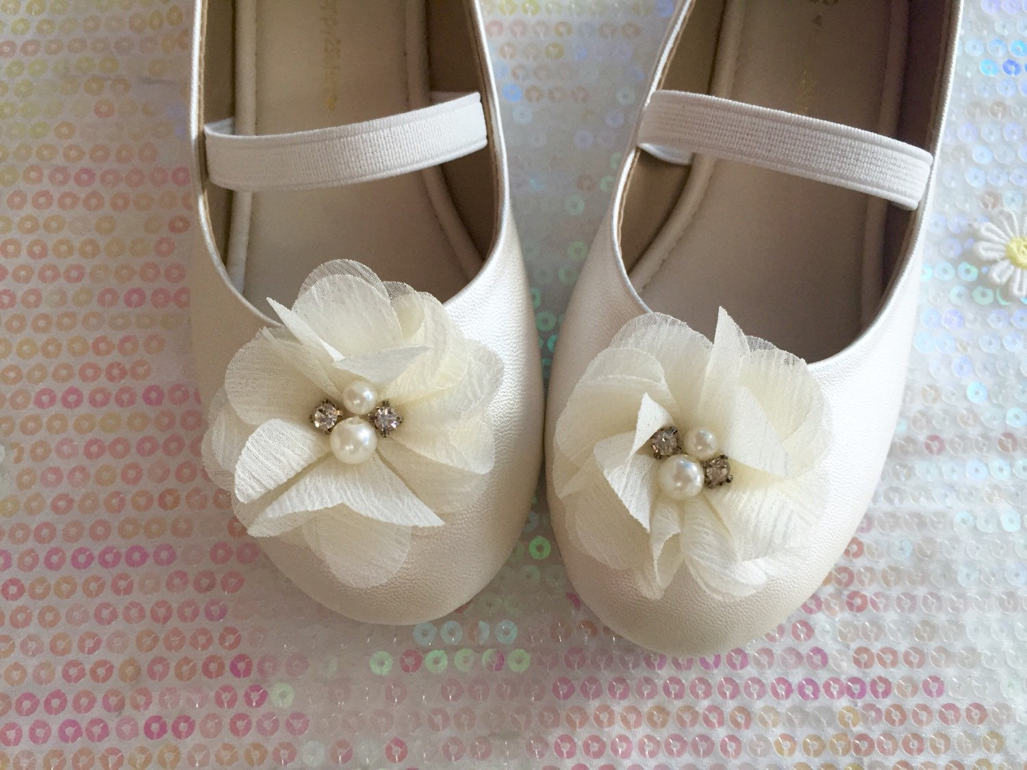 Ivory Girls Shoes Flower Girl Shoe Flat Shoe For Girl Happy2sisters