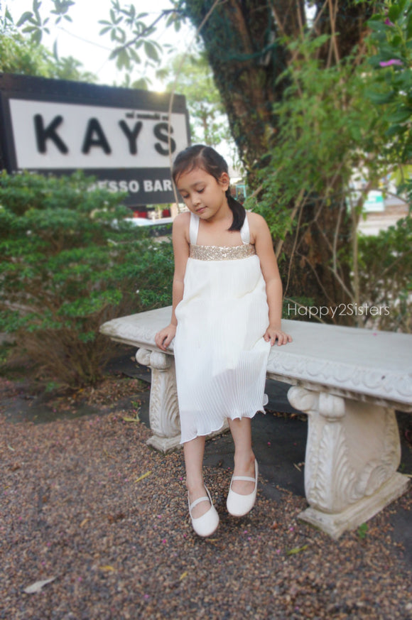 Ivory flat shoes for girls Flower girl shoe
