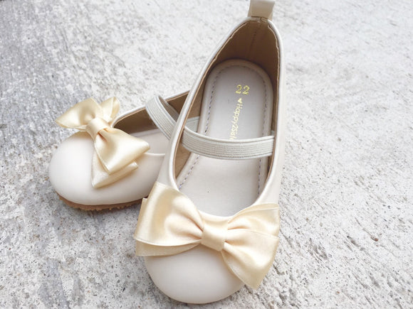 Ivory girl shoes Girl flat shoe Flower girl shoe Toddler girl shoe
