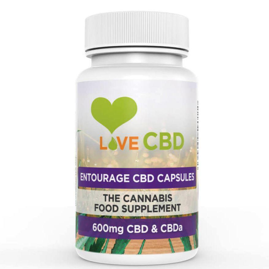 LOVE CBD: ENTOURAGE CAPSULES X 60 - 600MG