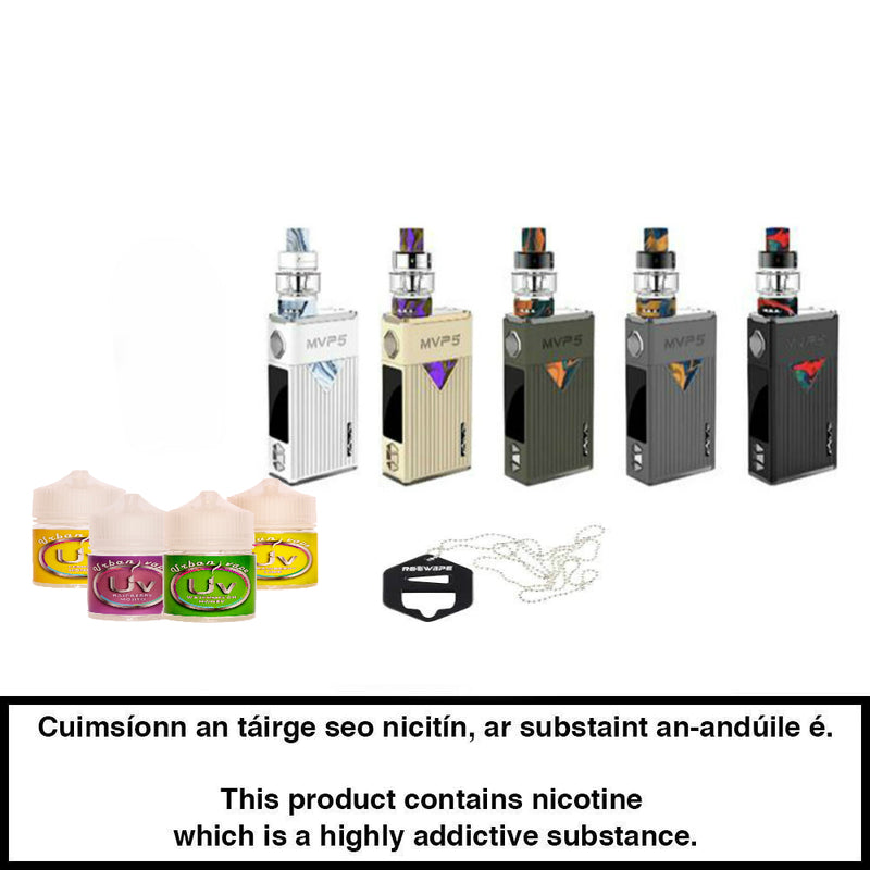 Vape Bundle: Innokin MVP5 Ajax Kit with Four Shortfills