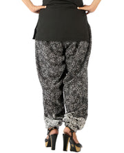 DeeVineeTi Women's Blended Crepe Black Printed FreeSize Patiala Salwar DVSR0010 Back