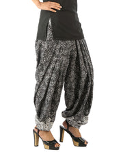 DeeVineeTi Women's Blended Crepe Black Printed FreeSize Patiala Salwar DVSR0010 Left