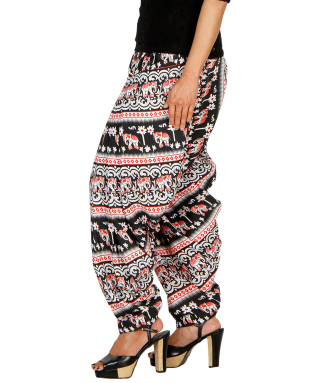 DeeVineeTi Women's Blended Crepe Multicolor Printed FreeSize Patiala Salwar DVSR0012 Left