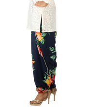 DeeVineeTi Women's Crepe Blue Floral Printed FreeSize Patiala Salwar DVSR0004 Right