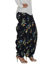 DeeVineeTi Women's Crepe Blue Floral Printed FreeSize Patiala Salwar DVSR0025 Right