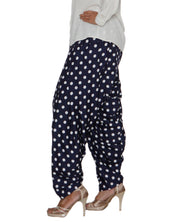 DeeVineeTi Women's Crepe Blue Polka Dot Printed FreeSize Patiala Salwar DVSR0020 Left
