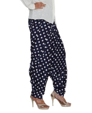 DeeVineeTi Women's Crepe Blue Polka Dot Printed FreeSize Patiala Salwar DVSR0020 Right