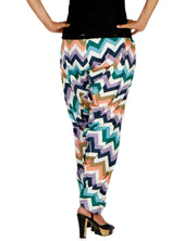 DeeVineeTi Women's Crepe Multicolor Chevron Printed FreeSize Patiala Salwar DVSR0014 Back