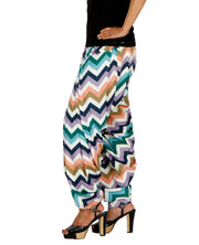 DeeVineeTi Women's Crepe Multicolor Chevron Printed FreeSize Patiala Salwar DVSR0014 Left