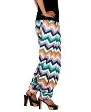 DeeVineeTi Women's Crepe Multicolor Chevron Printed FreeSize Patiala Salwar DVSR0014 Right
