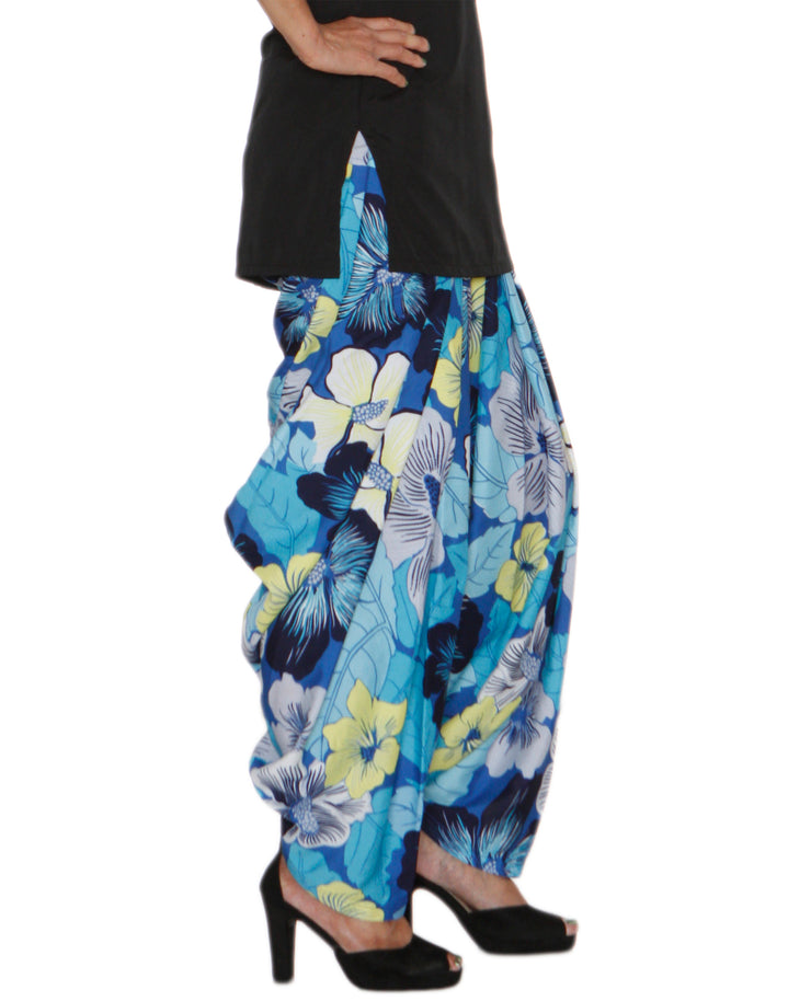 DeeVineeTi Women's Crepe Multicolor Floral Printed FreeSize Patiala Salwar DVSR0023 Right