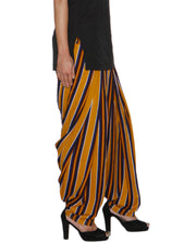 DeeVineeTi Women's Crepe Multicolored Striped Printed FreeSize Patiala Salwar DVSR0017 Right