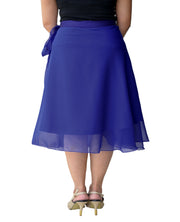 DeeVineeTi Women's Skirt Georgette Blue Solid Beach Wrap Around Skirt WA000105 Freesize Back
